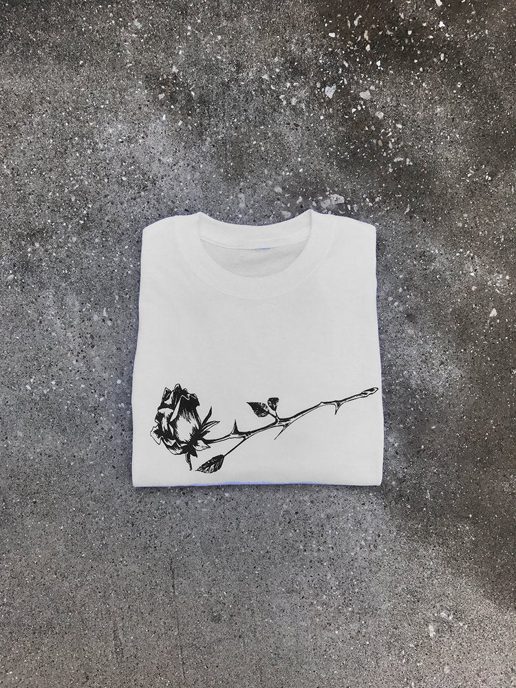 Rose White T Shirt