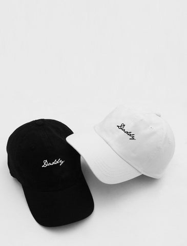 Daddy White Or Black Strapback Cap