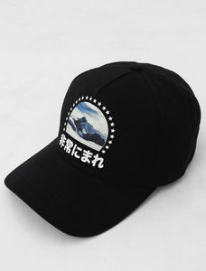 Film Noir Mountains Black Strapback Cap