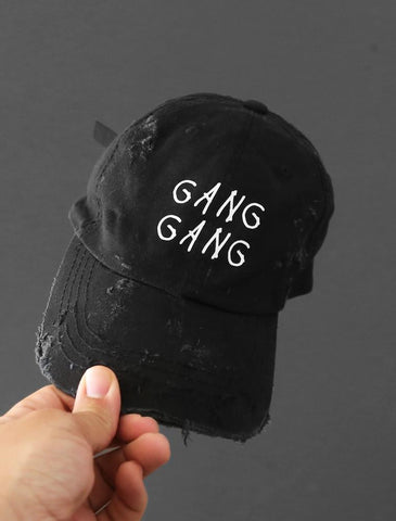 Gang Gang Black Strapback Hat