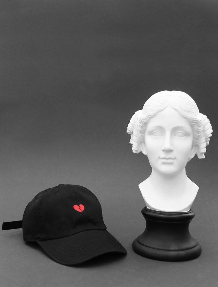 Heart Break Black Strapback Hat