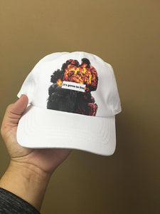 Its Gonna Be Fine White Strapback Cap