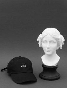 King Black Strapback Cap