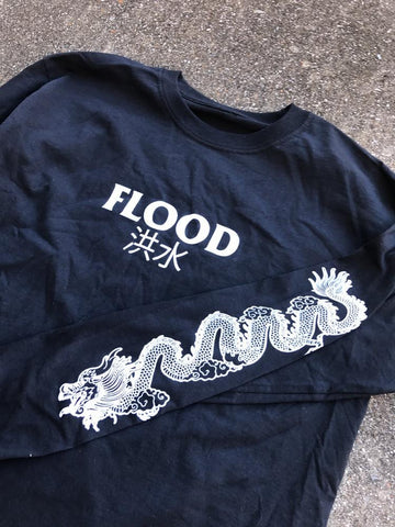 Long Sleeve - Flood Enter The Dragon Black Long Sleeve
