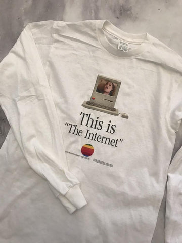 Long Sleeve - This Is The Internet White Long Sleeve