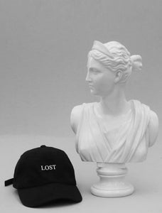 Lost Black Strapback Cap