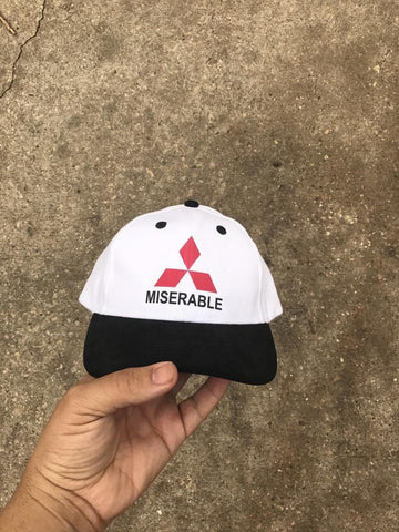 Miserable White Strapback Cap