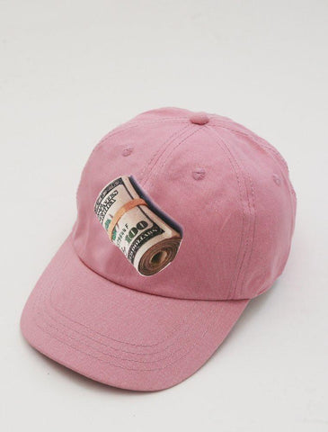 Money Roll Pink Strapback Cap