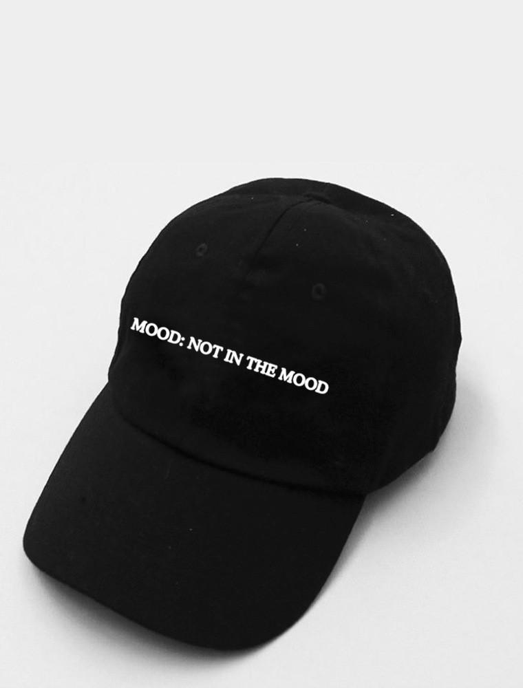 Mood: Not In The Mood Black Strapback Cap