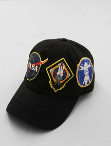 Nasa Space Black Strapback Cap