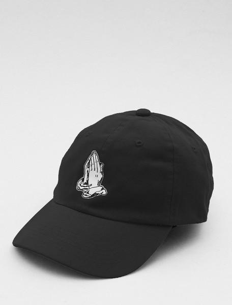 Pray Black Strapback Cap