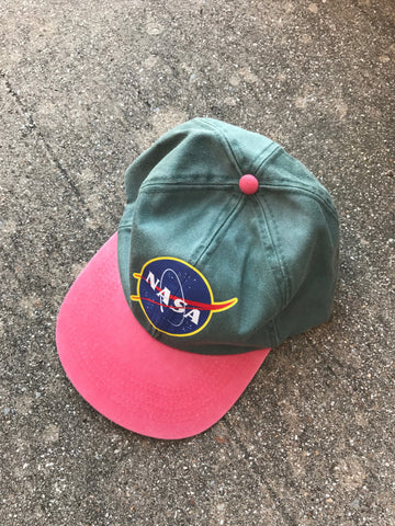 Space Cadet Olive And Fuchsia Washed Cap