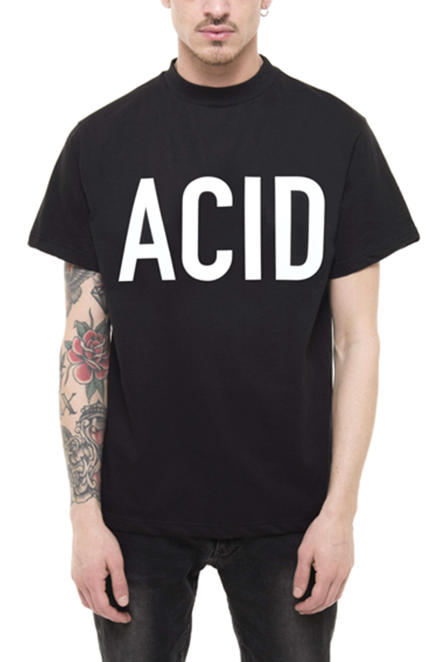 PRAY FOR US™ - ACID TEE BLACK