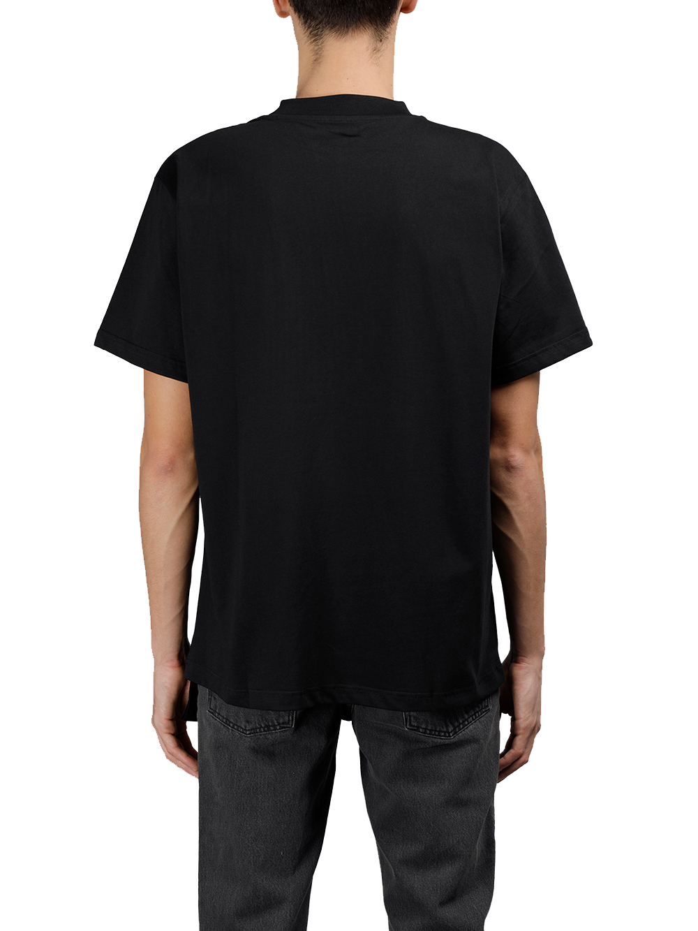 PRAY FOR US Man's Black CLUBBER Tee  Black Round Neck Short Sleeves Front CLUBBER Print 100% Cotton Made In Italy