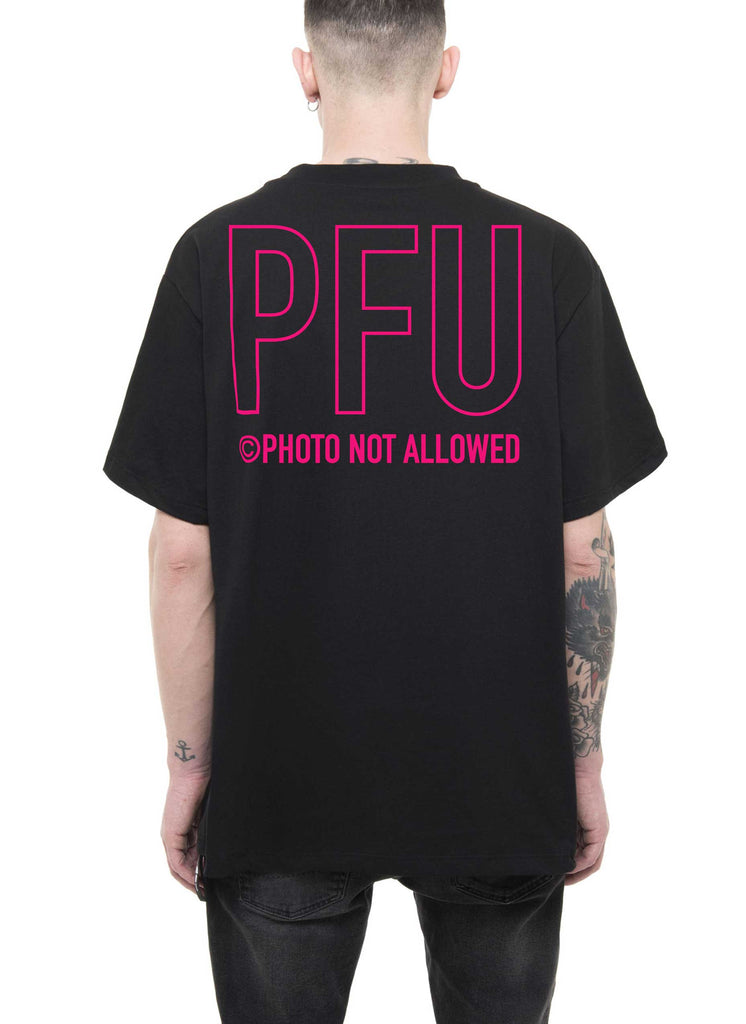 PRAY FOR US ™ - neon BACK-LOGO T-Shirt