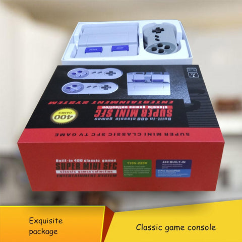 400 Games in 1 Classic Super Mini SFC TV Game Console for NES + 2X Wired Controller - ShopFor5