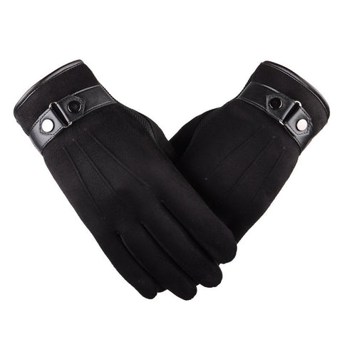 Hot Selling Warm Leather Gloves Top Quality Touch Screen Gloves Men Fashion Casual Cycling Gloves Autumn Winter Style - ShopFor5