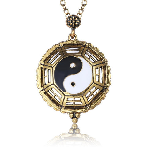 Retro Hollow Yin and Yang Gossip Magnifying Glass Necklace New Fashion  Necklace Jewelry for Men Women Gift - ShopFor5