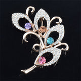 2016 Women Brooch  Colorful High-grade Crystal Flower Brooch For Wedding Gift  4 Style Wholesale&Retail - ShopFor5