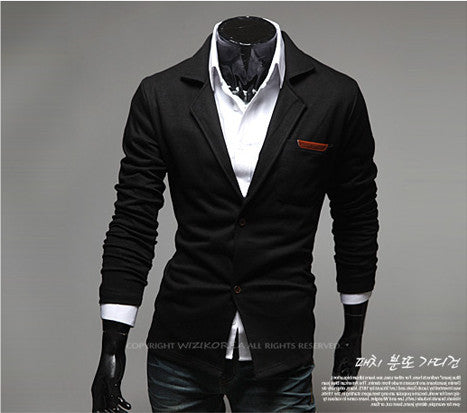 New Fashion Casual Slim Design Stylish Two-Button Suit Men Blazer Coat Jackets Casual Solid Men Garment 3 Colors  M-XXL - ShopFor5