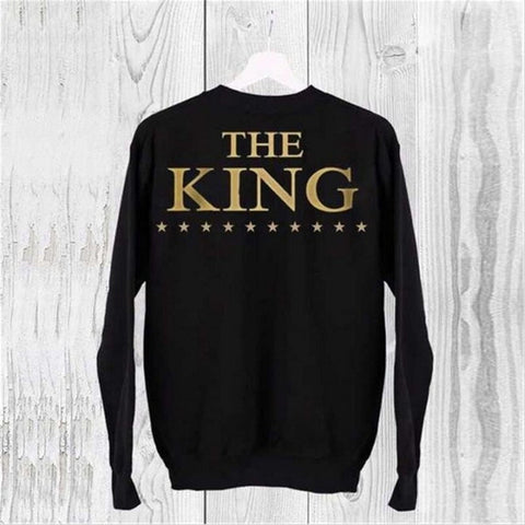 New Fall THE KING HIS QUEEN  Letter Print Sweatshirts Men/Women - ShopFor5