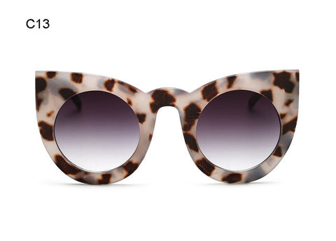 ROYAL GIRL Women Sunglasses Big Frame Mirror Glasses Chunky Cat Eye Sunglasses Women Brand Designer ss811 - ShopFor5