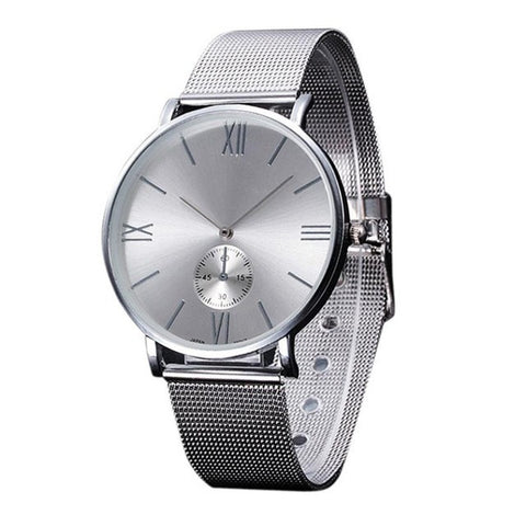 Women Watch Stainless Steel Quartz Business Hours Clock Women Crystal Analog Quartz Wristwatch Silver Adjustable montre femme - ShopFor5