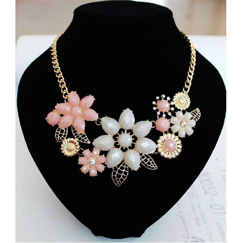 2016 new arrival women neckalce girl Bohemia Exaggeration Resin Statement Necklace Clavicle Chain vintage kolye ornamentation - ShopFor5