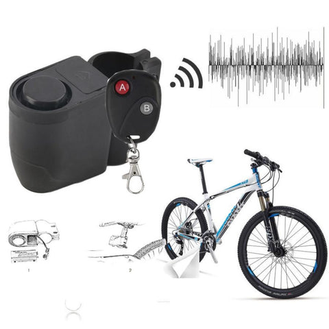 Small Alarm lock Bicycle Lock Bike Mountain Anti Theft Security Bicycle Accessories Wireless Remote Control Vibration Alarm  #EW - ShopFor5