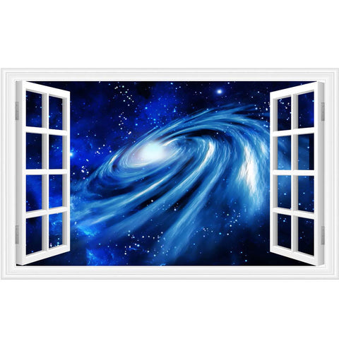 3D wall stickers home decor Star Space Home Decor Art Fake Window Removable Stickers - ShopFor5