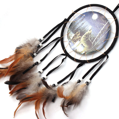 2017 New Dream Catcher Double Heart Car Home Wall Hanging Decoration Ornament room decorations - ShopFor5