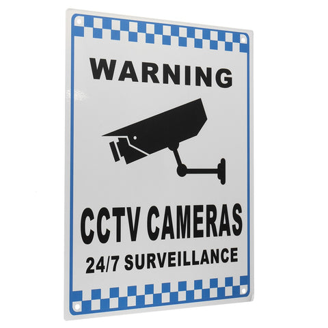 NEW Safurance CCTV Warning Security Video Surveillance Camera Safety Sign Reflactive Metal Home Security - ShopFor5