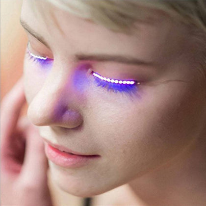 LED Fashion Eyelid False Eyelashes