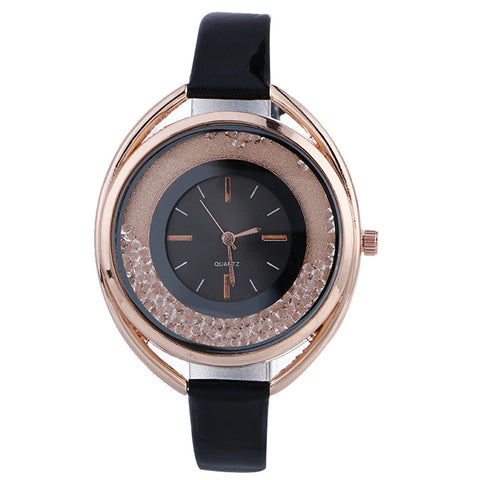 Women Creative Pattern Quartz Watch Leather Straplt Table Watch - ShopFor5