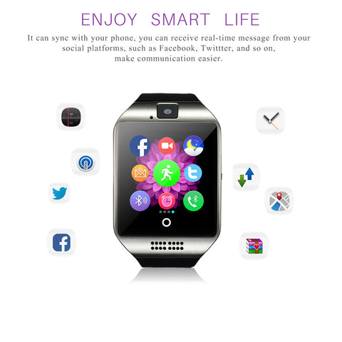 Q18 Bluetooth Smart Bracelet Watch Phone Support SIM TF Wearable Devices Sleep Monitor/Remote for Android Smartphone iPhone - ShopFor5