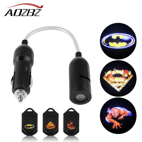 Car Door Welcome Light Laser Car Door Shadow Led Projector Logo Spider Man Shadow Universal Car Welcome Door Car-styling - ShopFor5