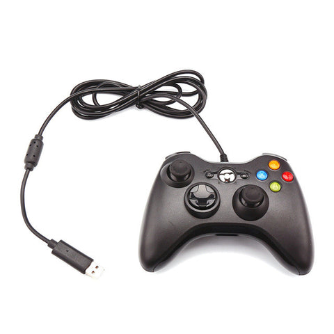 Powstro Computer Game Controller Wired Controller Gamepad Wired Dual 360 precision 3D joystick Rocker USB with LED Indicator - ShopFor5