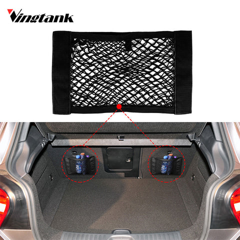 Vingtank 2 pcs Car Back Rear Trunk Storage Bag Elastic Pocket Fixing Mesh Car Trunk Storage Bag Car Elastic Pocket Car Storage - ShopFor5