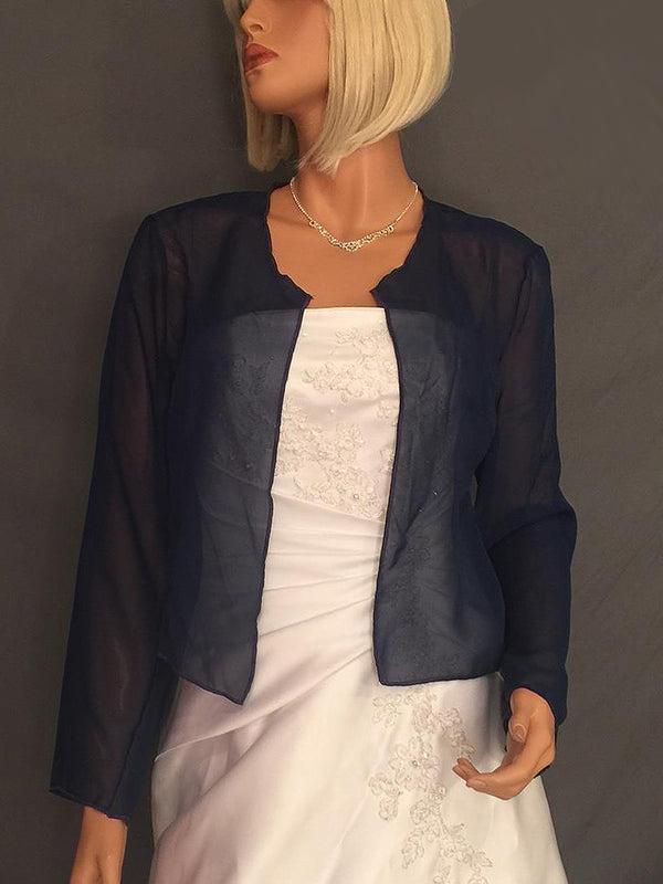 Lauren Chiffon jacket with long sleeves