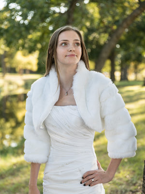 Veronica in Mink with 3/4 sleeves