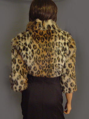 Veronica in Leopard with 3/4 sleeves