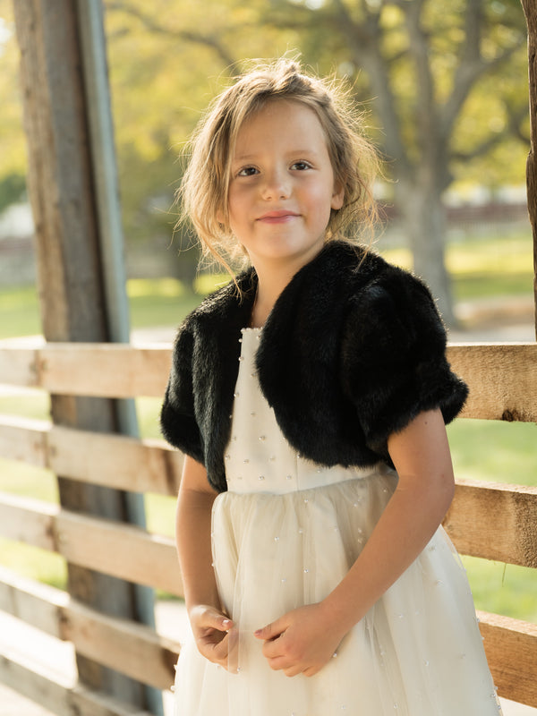 Little Audrey in Mink with short sleeves