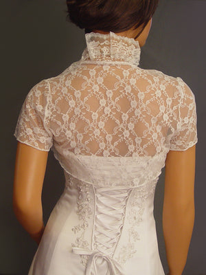 Lucille in Lace with short sleeves