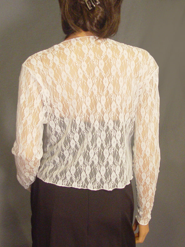 Lauren lace jacket with long sleeves