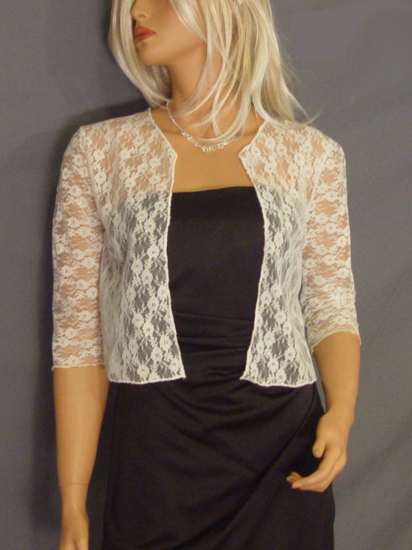 Lauren lace jacket with 3/4 sleeves