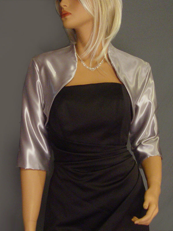 Audrey in Satin with 3/4 sleeves