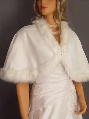 Doris in Satin with Angora trim