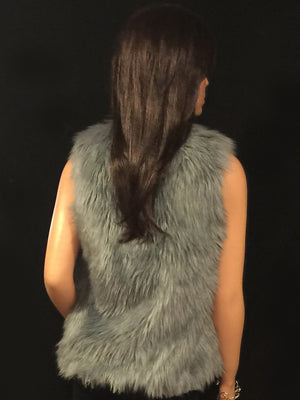 Katharine in gray Angora