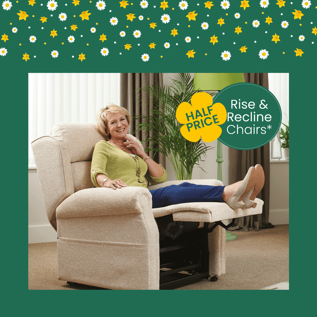 Middletons Rise and recline chair spring offer half price