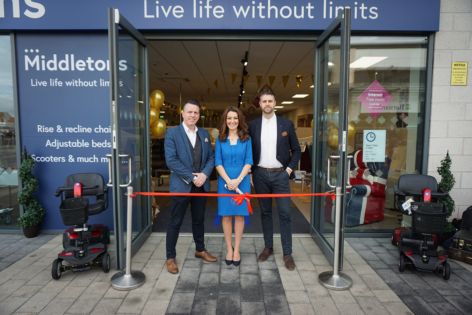 Kate Middleton lookalike cuts red ribbon to open new Middletons store in Coventry